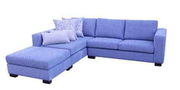 fabric chaise lounge - sofa corner modular include ottoman